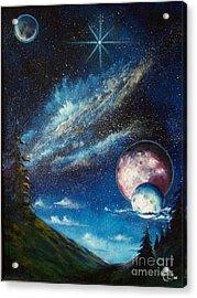 Galatic Horizon Acrylic Print by Murphy Elliott