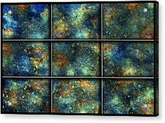 Galaxies II Acrylic Print by Betsy Knapp