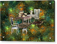 Galaxy Booking Acrylic Print by Betsy Knapp