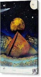 Galaxy Desert Pyramids Acrylic Print by Marc Chambers