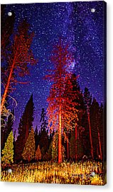 Acrylic Print featuring the photograph Galaxy Stars By The Campfire by Jerry Cowart