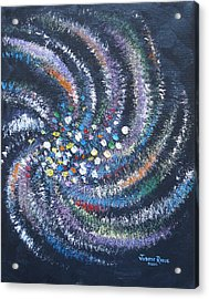 Acrylic Print featuring the painting Galaxy Swirl by Judith Rhue