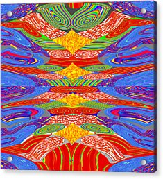 Galaxy Transit Union Ufo Docking Station Fantasy 2050 Art Background Designs  And Color Tones N Colo Acrylic Print