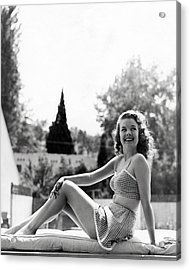 Gale Storm Acrylic Print by Silver Screen