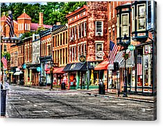 Galena Main Street Early Summer Morning Acrylic Print