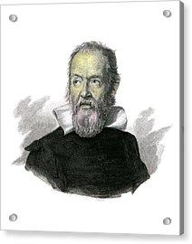 Galileo Galilei Acrylic Print by Detlev Van Ravenswaay