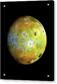 Galileo Image Of Jupiter's Moon Io Acrylic Print by Nasa/science Photo Library