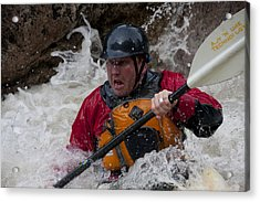 Gallatin Kayaker  Acrylic Print by Jason Standiford