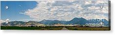 Gallatin Range Panoramic Acrylic Print by Charles Kozierok