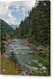 Gallatin River Ripples Acrylic Print by Charles Kozierok