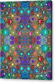 Gallimaufry Mirrored Version 3 Acrylic Print by Devin  Cogger