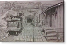 Acrylic Print featuring the drawing Gallitzin Tunnel by Thomasina Durkay