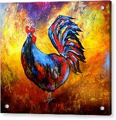 Gallo Acrylic Print by Thelma Zambrano