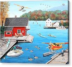 Galloping Goose Lake Acrylic Print