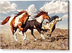 Galloping Mustangs Acrylic Print