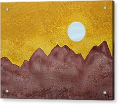 Gallup Original Painting Acrylic Print by Sol Luckman