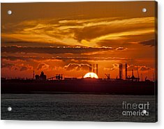 Acrylic Print featuring the photograph Galveston At Sunset by Shirley Mangini