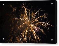 Galveston Fireworks Acrylic Print by Jason Brow