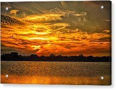 Galveston Island Sunset Dsc02805 Acrylic Print
