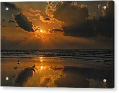 Acrylic Print featuring the photograph Galveston Sunrise by Susan D Moody