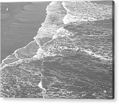 Galveston Tide In Grayscale Acrylic Print