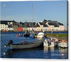 Galway Harbour At The Claddagh Acrylic Print by Lynda Cookson