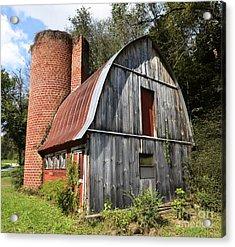 Gambrel-roofed Barn Acrylic Print by Paul Mashburn