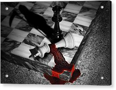 Game - Chess - Check Mate Acrylic Print by Mike Savad