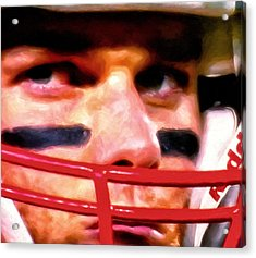 Game Face Acrylic Print by Michael Pickett