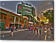 Game Night Fenway Park Acrylic Print by Toby McGuire