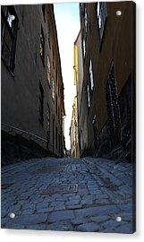 Gamla Stan Street Acrylic Print by Frederico Borges