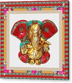 Ganapati Ganesh Idol Hinduism Religion Religious Spiritual Yoga Meditation Deco Navinjoshi  Rights M Acrylic Print by Navin Joshi