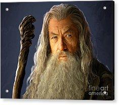 Gandalf Acrylic Print by Paul Tagliamonte