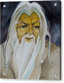Gandalf The White Acrylic Print by Patricia Howitt