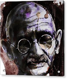 Acrylic Print featuring the painting Gandhi by Laur Iduc