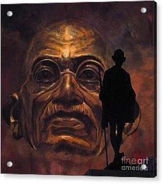 Gandhi - The Walk Acrylic Print by Richard Tito