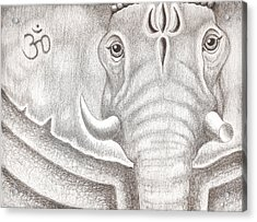 Ganesh Acrylic Print by Adam Wood
