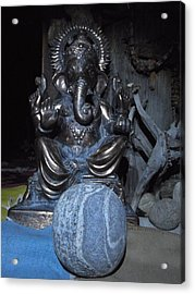Ganesha And The Rock Of The Mystic Acrylic Print