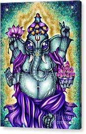 Ganesha Acrylic Print by Coriander  Shea