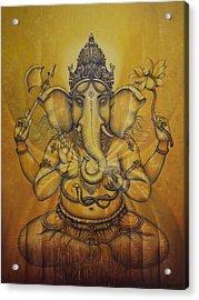Ganesha Darshan Acrylic Print by Vrindavan Das