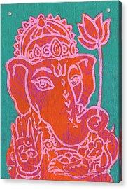Ganesha Hot Pink Orange Teal Acrylic Print