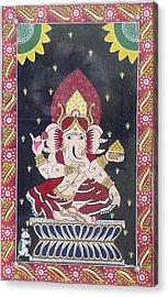 Ganesha The Hindu God Acrylic Print by Prasida Yerra