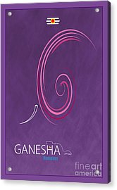 Ganesha The Remover Acrylic Print by Tim Gainey