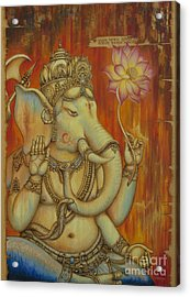 Ganesha Acrylic Print by Yuliya Glavnaya