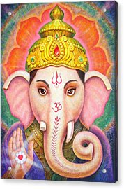 Ganesha's Blessing Acrylic Print by Sue Halstenberg