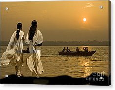 Ganges Every Day Acrylic Print by Angelika Drake