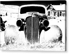 Gangster Car Acrylic Print by Cat Connor