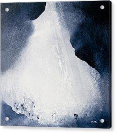 Gaping Gill Yorkshire By Neil Mcbride Acrylic Print by Neil McBride