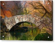 Gapstow Bridge In Central Park Acrylic Print by GCannon