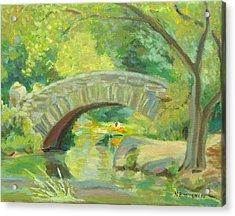 Gapstow Bridge Ny Acrylic Print